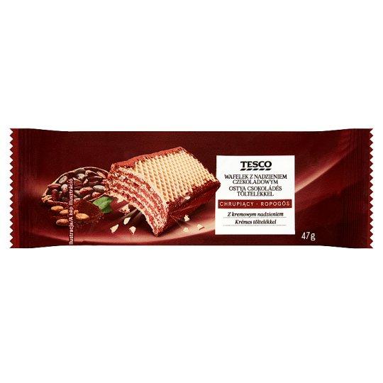 Tesco Wafelek z nadzieniem czekoladowym