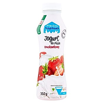 Mleczny Przystanek Jogurt do picia truskawkowy
