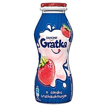 Danone Gratka Napój mleczny o smaku truskawkowym
