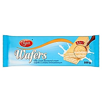 Iga Wafers Wafelki o smaku śmietankowym