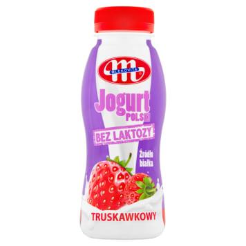 MLEKOVITA Bez laktozy Jogurt Polski Pitny truskawkowy