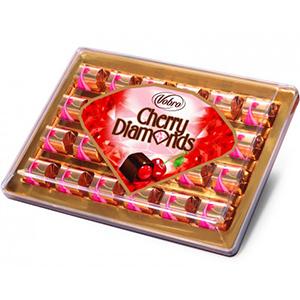 Vobro Cherry Diamonds Czekoladki Nadziewane Wiśnią W Alkoholu