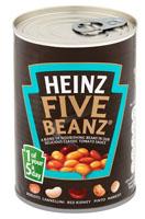 Heinz Five Beanz 5 rodzajów fasoli w sosie pomidorowym