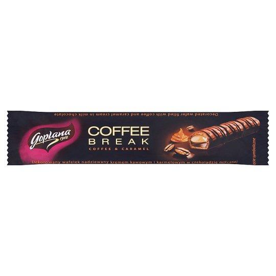 Goplana Coffee Break Wafelek nadziewany kremem kakaowym i karmelowym w czekoladzie