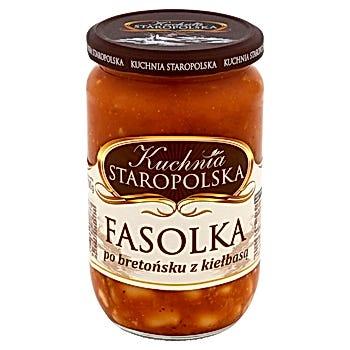 Kuchnia Staropolska Fasolka po bretońsku z kiełbasą