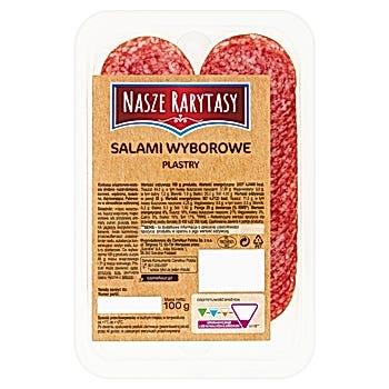 Nasze Rarytasy Salami wyborowe plastry