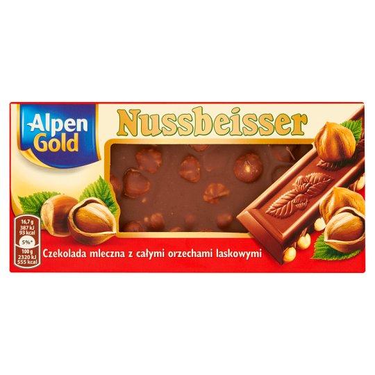 Alpen Gold Nussbeisser Czekolada mleczna z całymi orzechami laskowymi