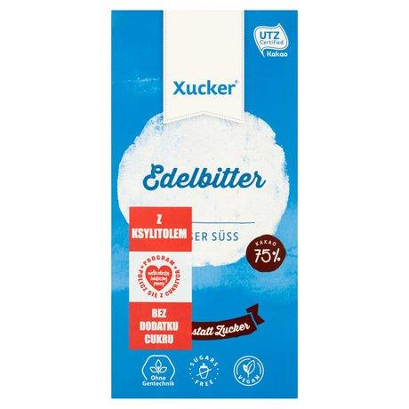 Xucker - Czekolada gorzka 75% kakao z ksylitolem bez dodatku cukru