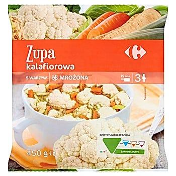 Carrefour Zupa kalafiorowa mrożona