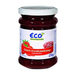 Eco+ Dżem Truskawkowy Niskosłodzony