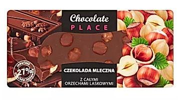 Chocolate Place Czekolada mleczna z całymi orzechami laskowymi