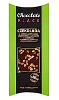 Chocolate Place Czekolada z karmelizowanymi orzechami laskowymi i kostkami pomarańczowymi