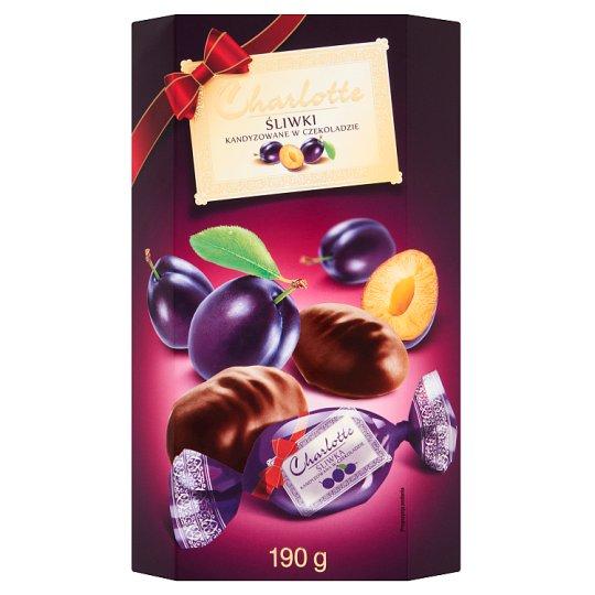Charlotte Śliwki kandyzowane w czekoladzie
