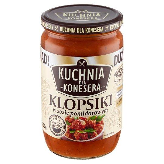 Kuchnia dla konesera Klopsiki w sosie pomidorowym