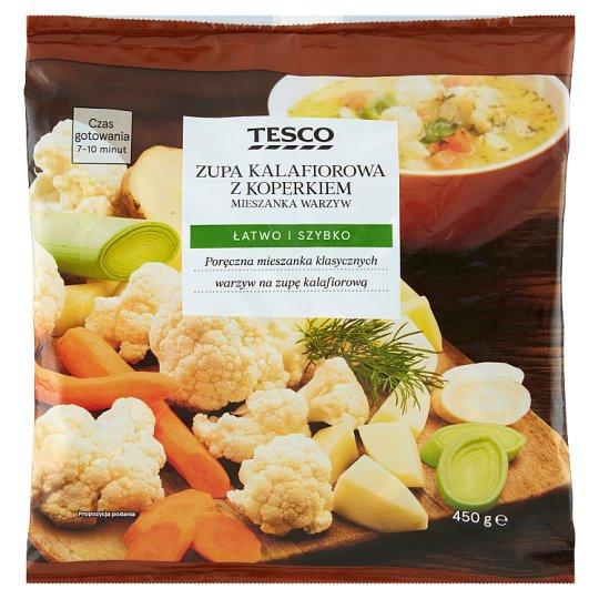 Tesco Zupa kalafiorowa z koperkiem mieszanka warzyw