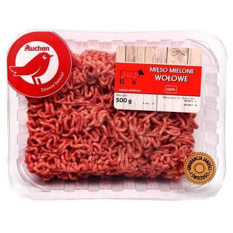 Auchan - mięso mielone wołowe