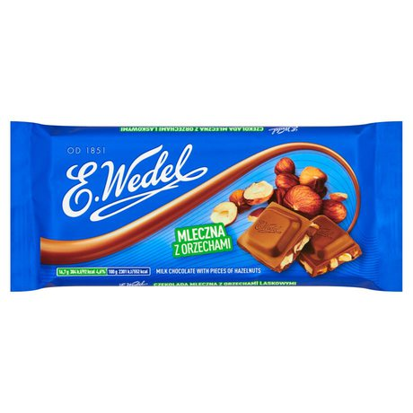 E. Wedel - czekolada mleczna z orzechami laskowymi