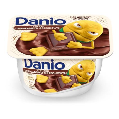 Danone - Danio serek homogenizowany o smaku czekoladowo-orzechowym