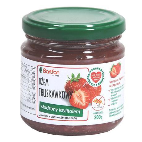BartFan - dżem truskawkowy słodzony ksylitolem