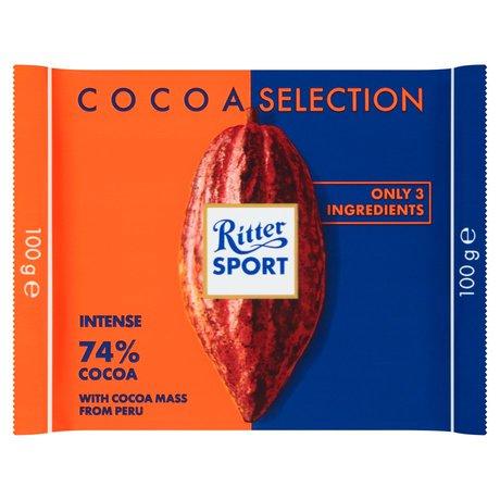 Ritter Sport - czekolada gorzka 74% kakao z Peru