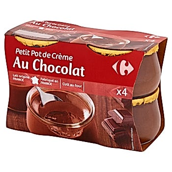Carrefour Deser mleczny z kremem o smaku czekoladowym