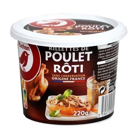 Auchan - Pasztet z pieczonego kurczaka rillettes de poulet roti