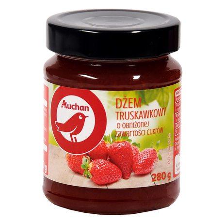 Auchan - dżem truskawkowy o obniżonej zawartości cukrów