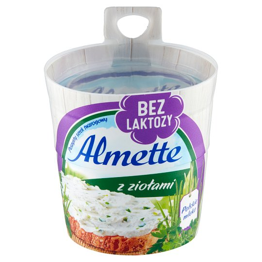 Almette Puszysty serek twarogowy z ziołami bez laktozy