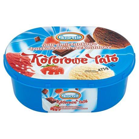 Koral - Lody Kolorowe Lato śmietanka-truskawka-czekolada