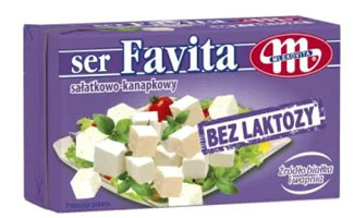 MLEKOVITA Favita Ser sałatkowo-kanapkowy bez laktozy