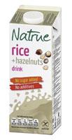 NATRUE Napój ryżowy z orzechami laskowymi niesłodzony bezglutenowy