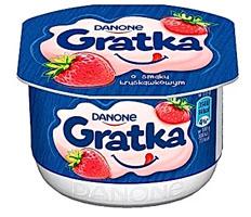 Danone Gratka Deser o smaku truskawkowym