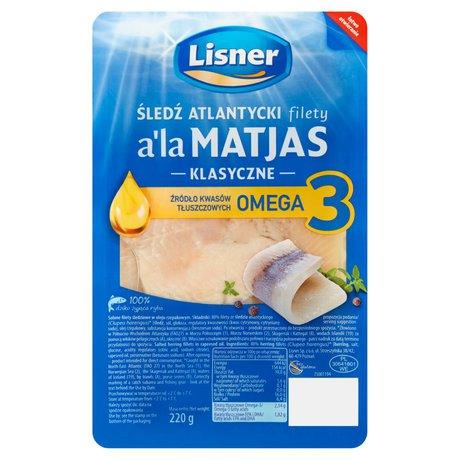 Lisner - Śledź - Filety śledziowe a la matjas, w oleju