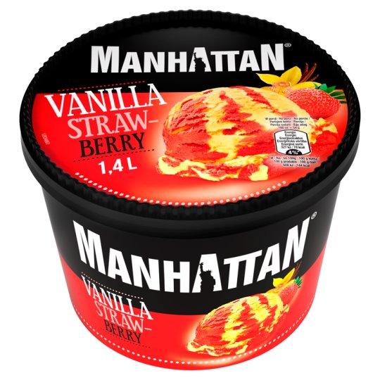 Manhattan Lody waniliowe i lody wodne truskawkowe