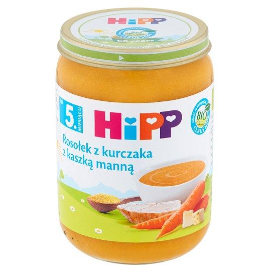 HiPP BIO Rosołek z kurczaka z kaszką manną po 5. miesiącu