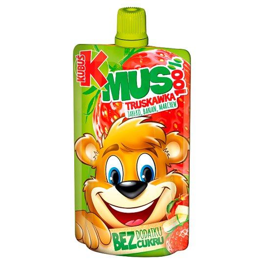 Kubuś Mus 100% truskawka jabłko banan marchew