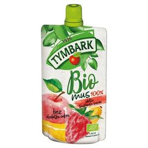 Tymbark Bio Mus 100% Jabłko Truskawka Banan