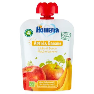 Humana 100% Organic Mus Jabłko & Banan