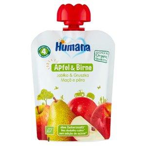 Humana 100% Organic Mus Jabłko & Gruszka