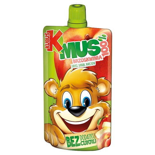 Kubuś Mus 100% brzoskwinia jabłko banan marchew