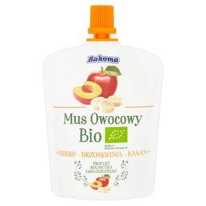 Bakoma Mus Owocowy Bio Jabłko-Brzoskwinia-Banan