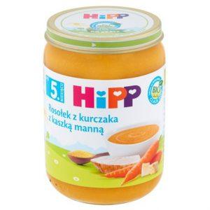 HiPP - Obiadek Zupka Rosołek z kurczakiem i kaszą manną