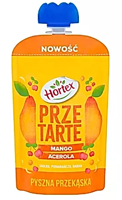 Hortex Przetarte Premium mus owocowy jabłko banan mango pomarańcza acerola