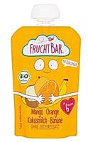 FRUCHTBAR Mus banan, brzoskwinia, mango BIO