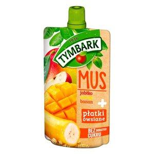 Tymbark Mus Jabłko Mango Banan + Płatki Owsiane