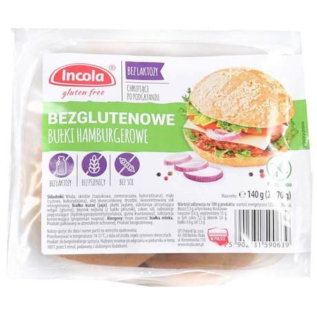 Incola - Bezglutenowe bułki hamburgerowe