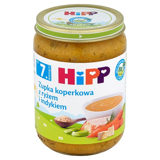 HiPP BIO Zupka koperkowa z ryżem i indykiem po 7. miesiącu