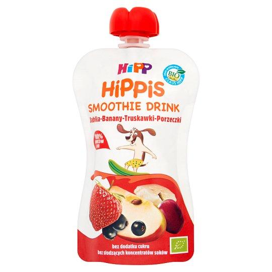HiPP BIO HiPPiS Jabłka-Banany-Truskawki-Porzeczki Mus z owoców i soków