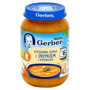 Gerber Wiosenna zupka z indykiem i koperkiem po 6 miesiącu