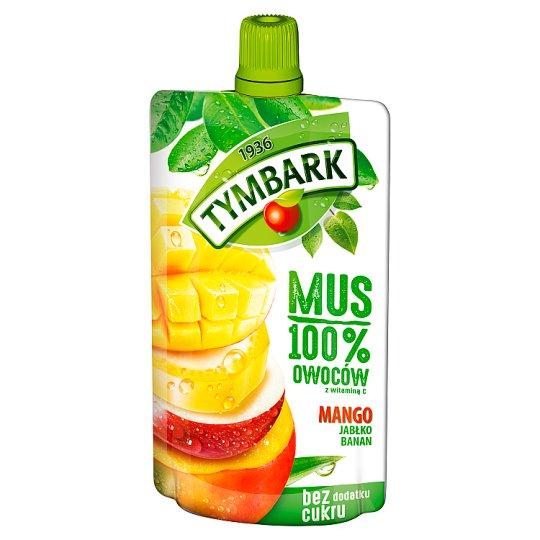 Tymbark Mus 100% mango jabłko banan
